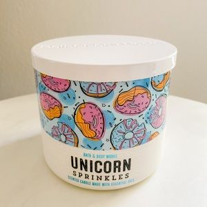 Bath and body works BBW unicorn sprinkle candle
